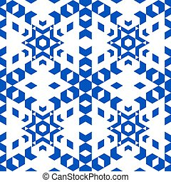 Pattern in isometric style on a white background.
