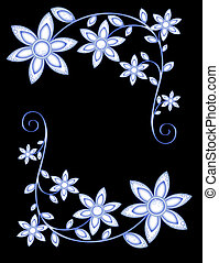 several flowers - pattern in the manner of several flowers...