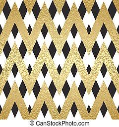 Pattern in zigzag. Classic chevron seamless pattern. Vector...
