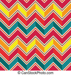 Pattern in zigzag - pastel colored