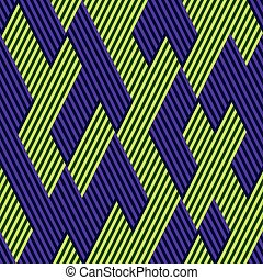 Pattern in zigzag with line color