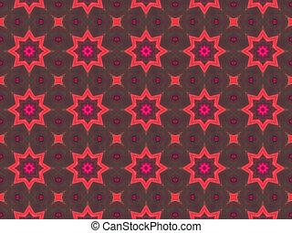 pattern., kaléidoscope, ethnique, résumé