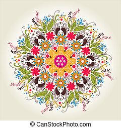 pattern., laccio, delicato, cerchio, rotondo, ornamentale