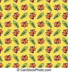Pattern leaves and dots