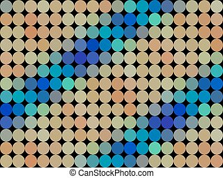 Pattern low poly circle style vector mosaic background