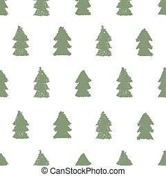 pattern., noël arbres, seamless