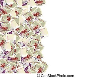 Pattern of 100 Cambodian riels banknote is national currency of Cambodia