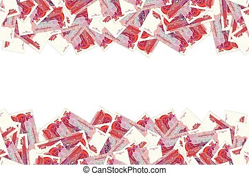 Pattern of 500 Cambodian riels banknote is national currency of Cambodia