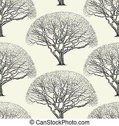 pattern of a big tree