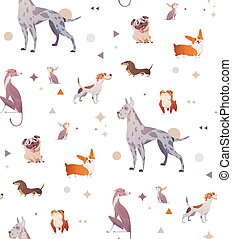 Pattern of a simple patten with dogs.