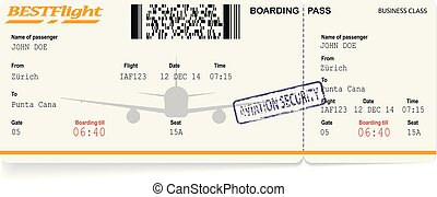 pattern of airline boarding pass
