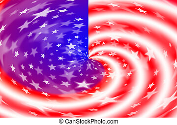 Pattern of American flag background
