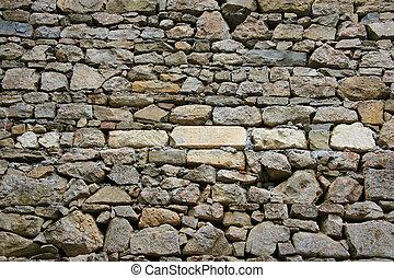 Pattern of an ancient brick wall surface