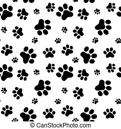 Pattern of animals paws, flat syle, vector illustrartion