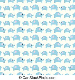 Pattern of beautiful elephants. Pattern Background with elephants. Children's drawing. Background of cute elephants