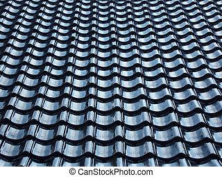 tiled roof - Pattern of black tiled roof