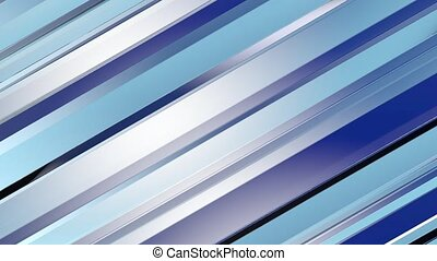 Pattern of blue color strips prisms. Abstract background. 3D rendering illustration.