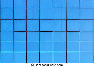 Pattern of blue square windows
