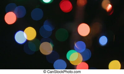 Pattern of bright lights with bokeh effect