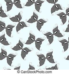 pattern of carnival masks