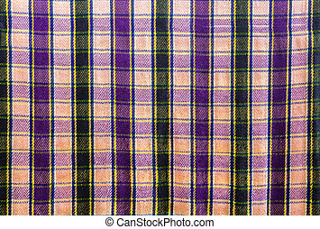 Pattern of checkered on fabric