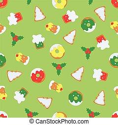 pattern of Christmas symbols