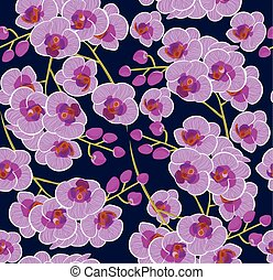 pattern of colorful Orchid flowers vector illustration. stock vector images of beautiful pink Orchid flowers. bright background.