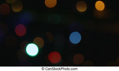 Pattern of colour lights with bokeh effect