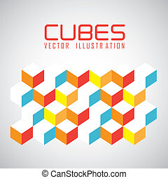 pattern of cubes