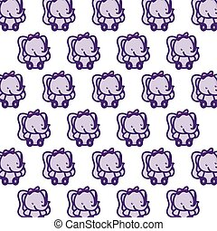 pattern of cute little elephants baby