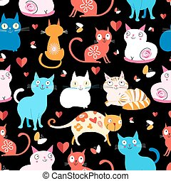pattern of different cats