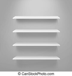 pattern of empty shelves for displaying goods