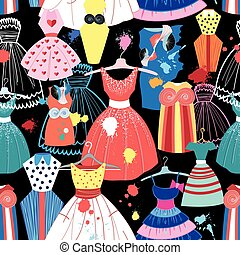 pattern of fashionable dresses