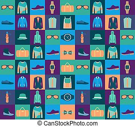 Pattern of fashionable mens wear background