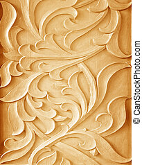 Pattern of flower carved