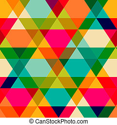 Pattern of geometric shapes. Triangles.Texture with flow of...
