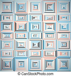 Pattern of geometric shapes with tiles