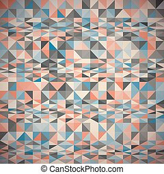 Pattern of geometric shapes with triangles