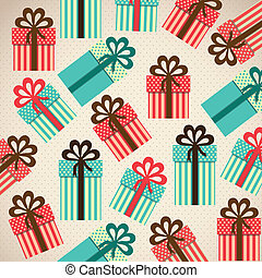 pattern of gift boxes