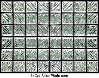 Pattern of Glass Block Wall
