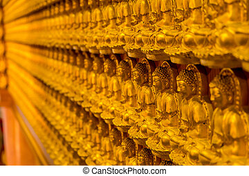 Pattern of golden buddha