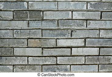 Pattern of grey bricks