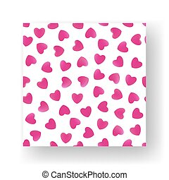 Pattern of hearts. Seamless background