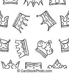 Pattern of king queen crown