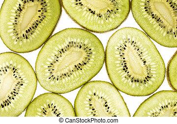 Pattern of kiwi slices