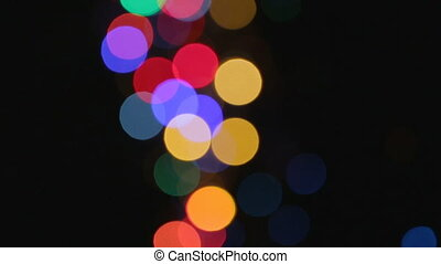 Pattern of lights with bokeh effect