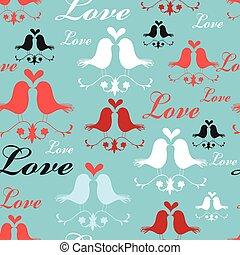Pattern of lovers birds