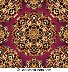 Pattern of mandalas for textile.