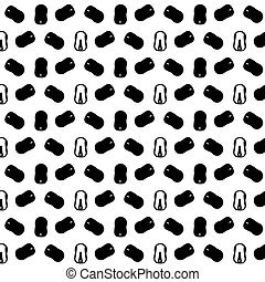 Pattern of many computer mice from different angles on a white background