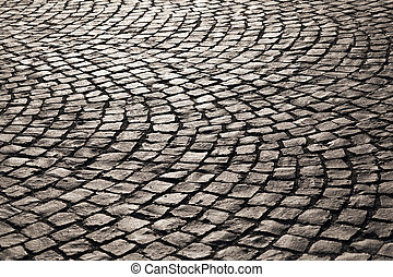 pattern of old cobble stone street - old cobble stone street...
